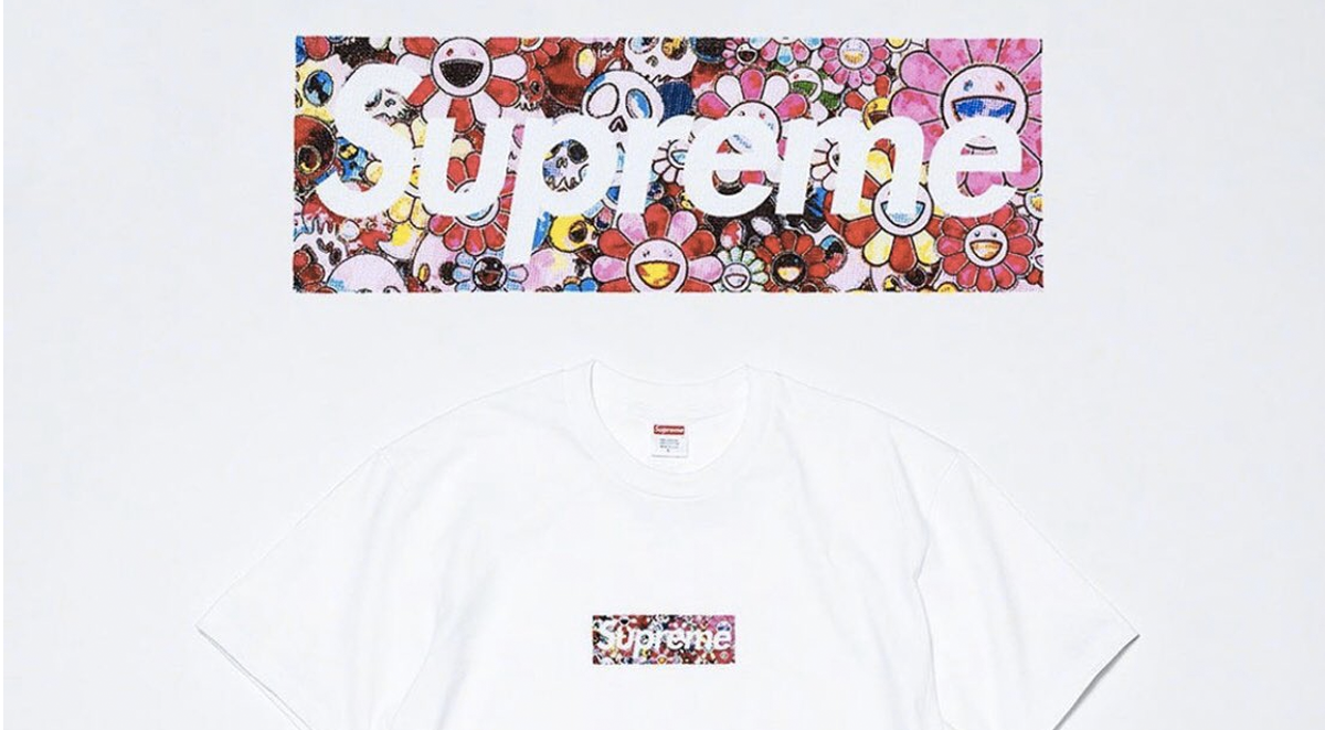 Supreme box logo x Takashi Murakami tee covid-19 relief 2020 history most valuable designs