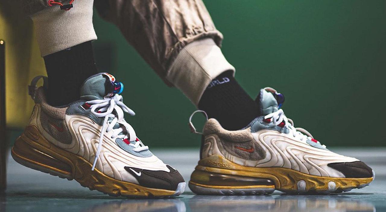 Travis Scott x Nike Air Max 270 on feet @repgod888
