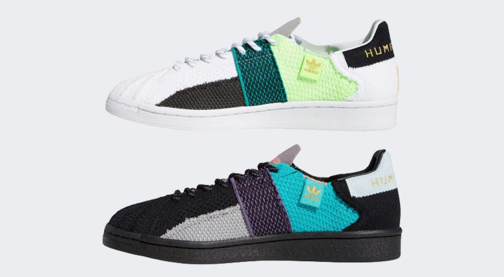 Adidas x Pharrell Superstar medial view