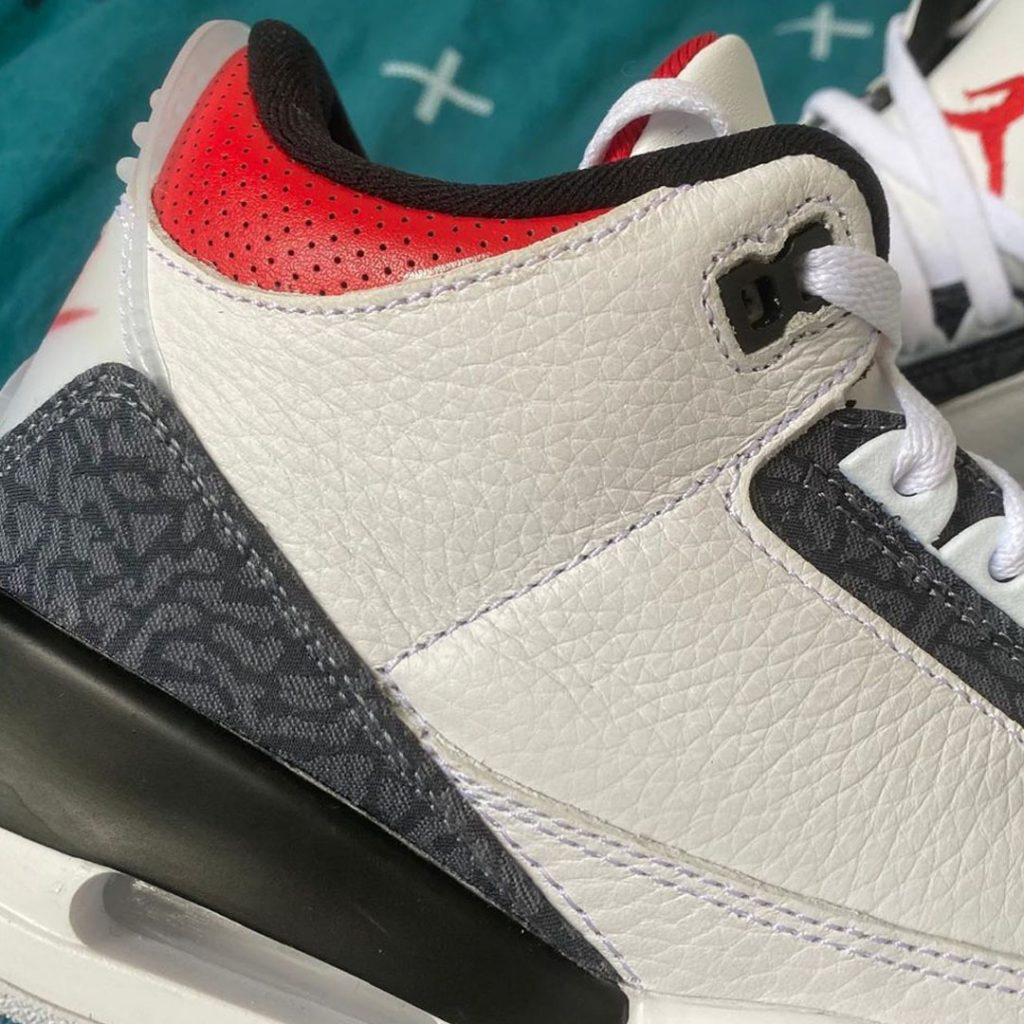 "Air Jordan 3 SE ""Fire Red"" ankle collar"