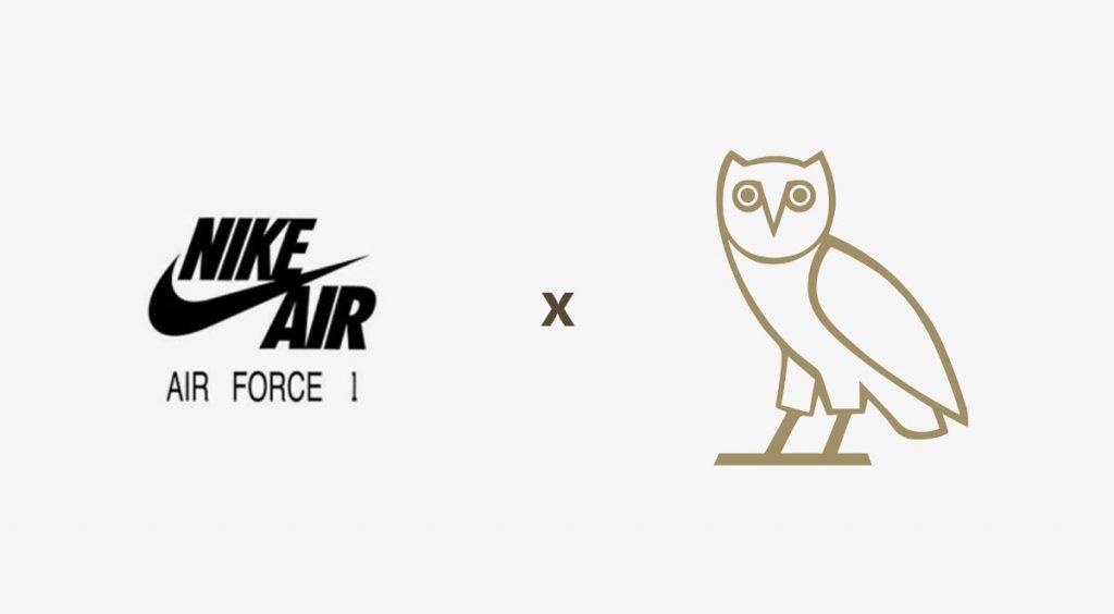 Drake x Nike Air Force 1 logo
