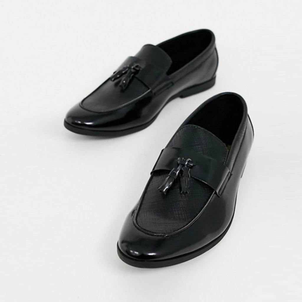 Father's Day Gift Guide 2020 River Island patent loafer black 2