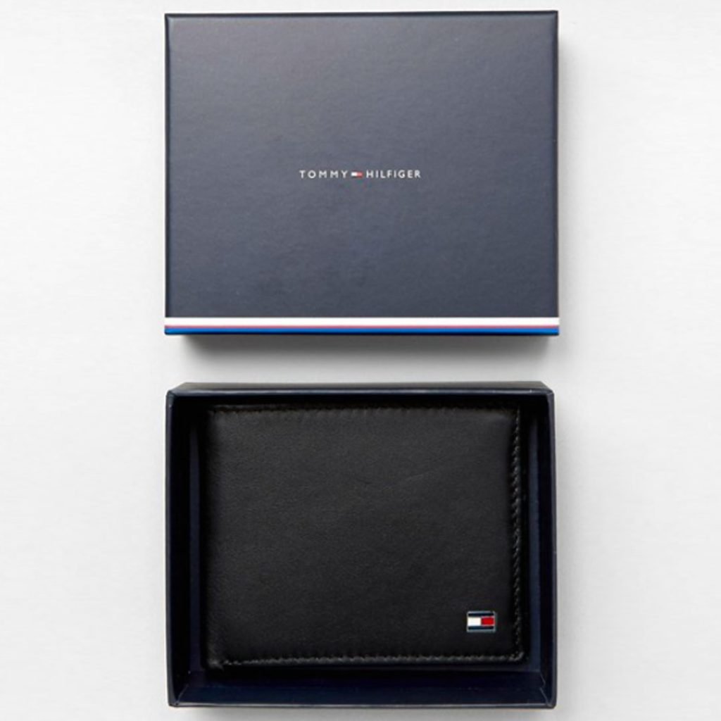Father's Day Gift Guide 2020 Tommy Hilfiger Eton mini billfold leather wallet in black