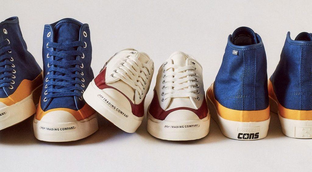 "Footwear Drops Air Max 90 ""Orange Camo"" Converse x Pop Trading Company Jack Purcell Pro Hi header"