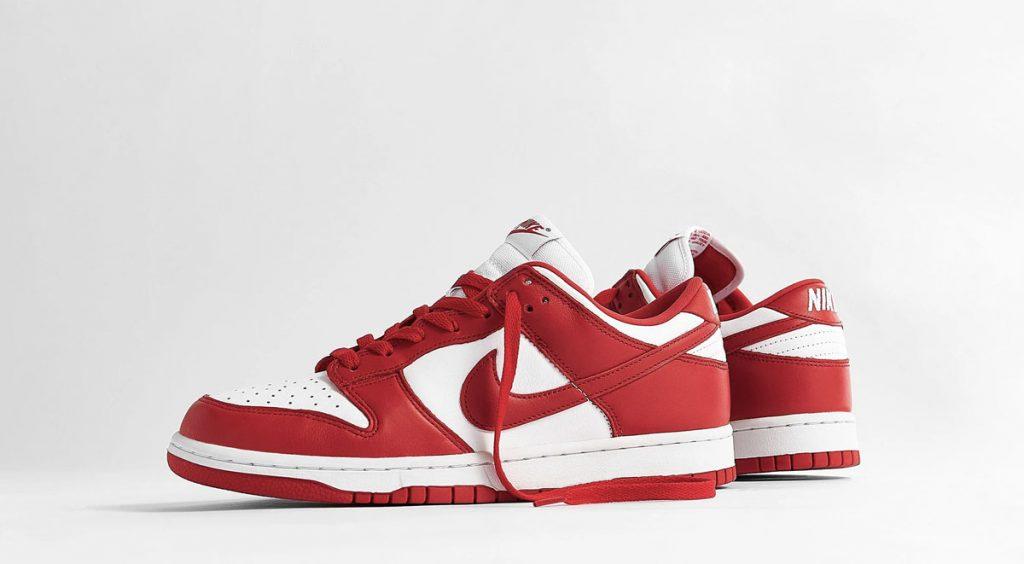 Footwear drops Air Jordan 5 Top 3 Nike Dunk Low University Red