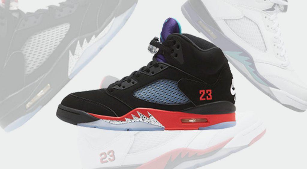 Footwear drops Air Jordan 5 Top 3 header