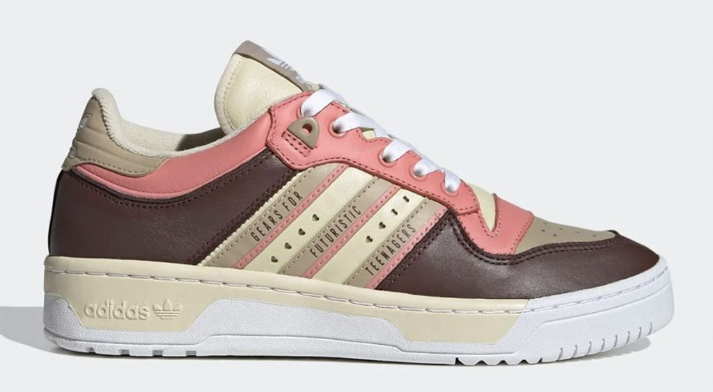Human Made x Adidas Rivalry Low cream brown pink