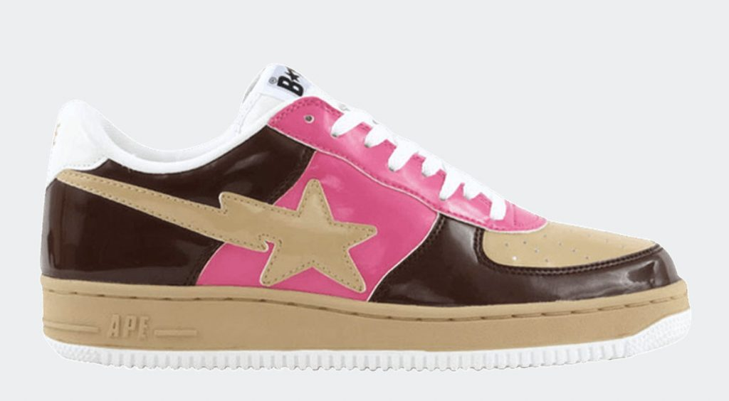 Human Made x Adidas Rivalry Low cream brown pink bapesta