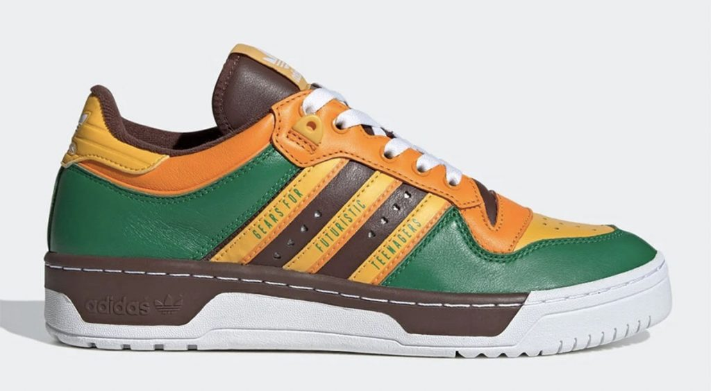 Human Made x Adidas Rivalry Low orange green brown