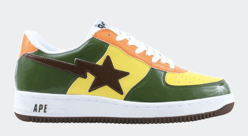 Human Made x Adidas Rivalry Low orange green brown Bapesta