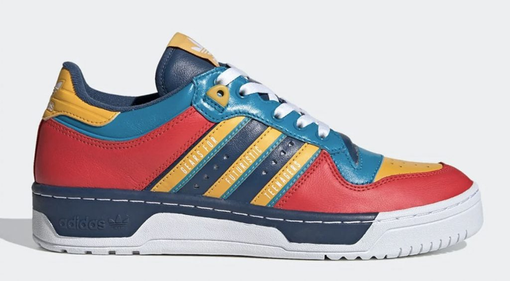 Human Made x Adidas Rivalry Low red yellow blue