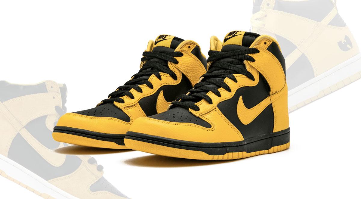 Nike Dunk High Black Maize feature