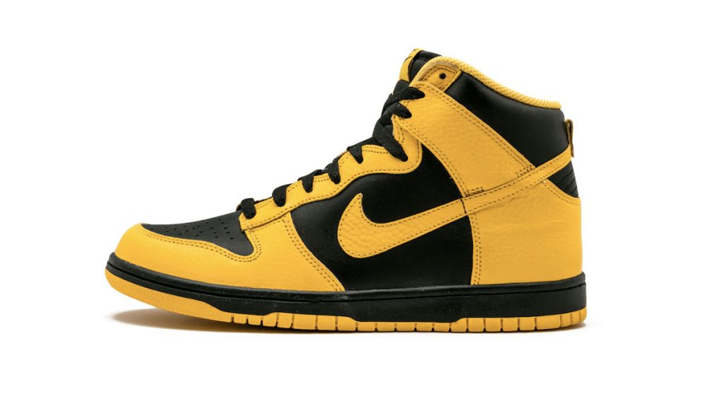 Nike Dunk High Black Maize side