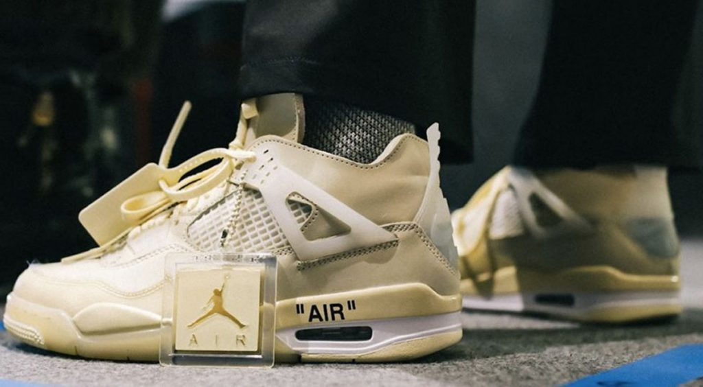 "Off-White x Nike Air Jordan 4 ""Sail"" leak @karlhab"