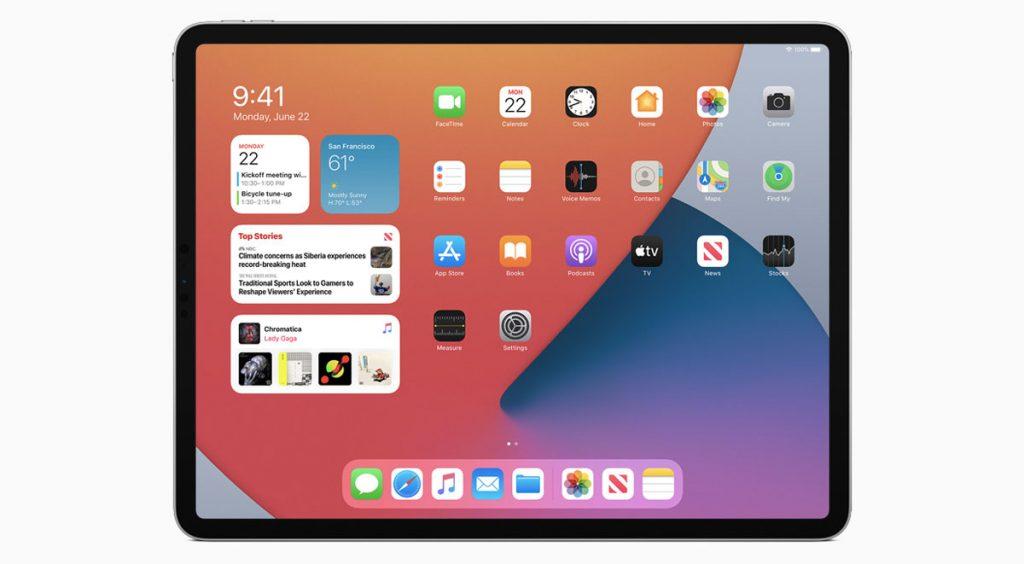 WWDC 2020 iPad home screen