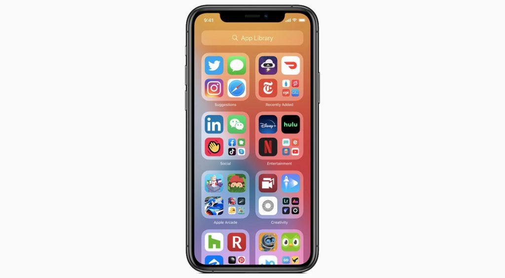 WWDC 2020 iPhone folders