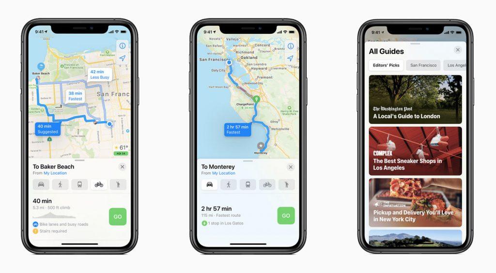 WWDC 2020 iPhone maps