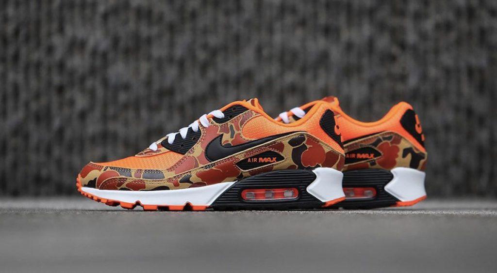 """Footwear Drops Air Max 90 """"Orange Camo"""" Sneakernews"""
