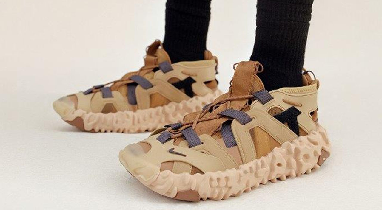 Nike ISPA Overreact FK Sandal on feet modern notoriety