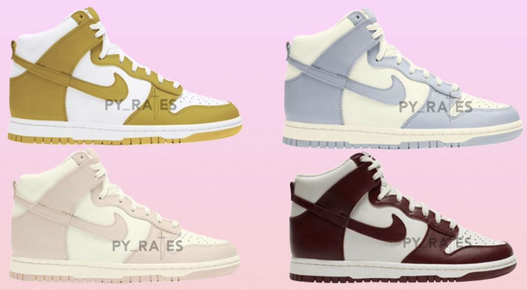 Women's Nike Dunk High four colorways
