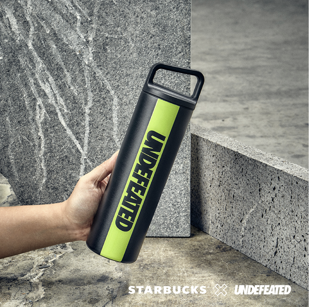 starbucks x undefeated singapore: stainless steel water bottle