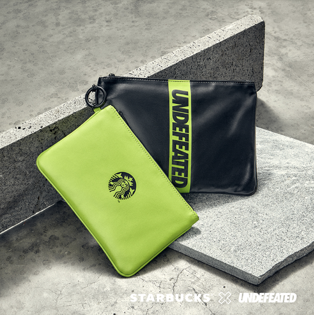 starbucks x undefeated singapore: pouch bag