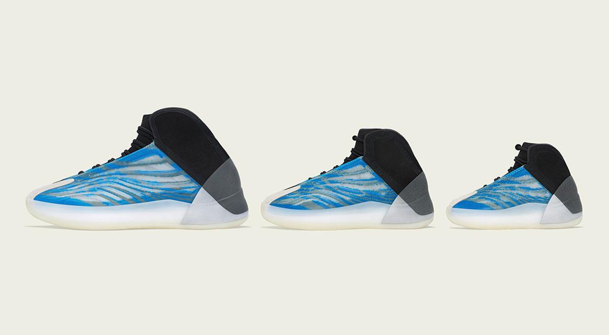 Yeezy Qntm Frozen Blue Drops In Family Sizes On December 23