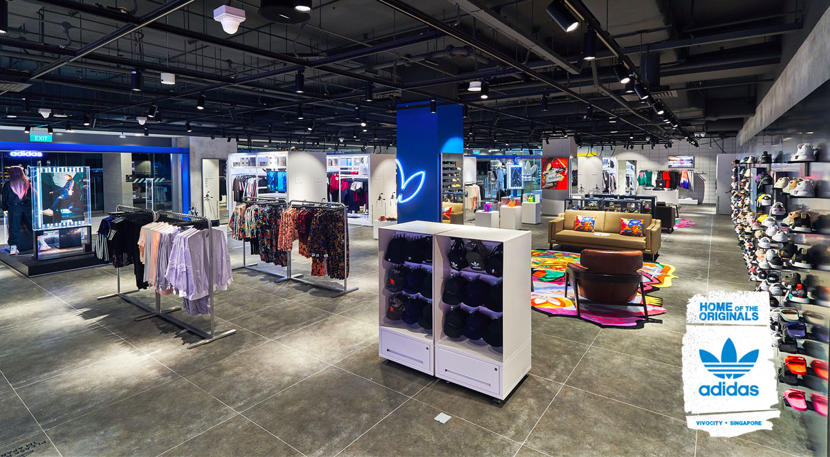 adidas Originals VivoCity flagship store layout