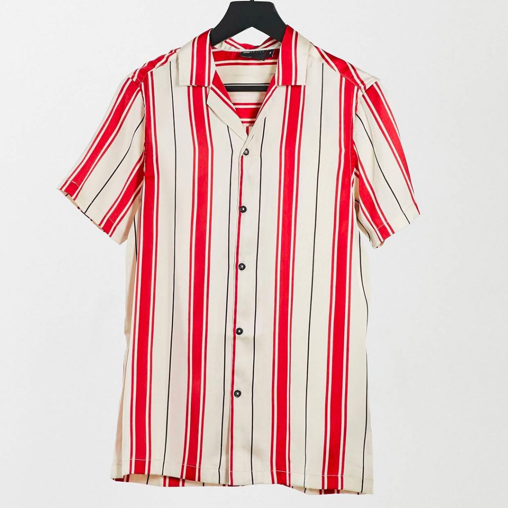 ASOS DESIGN regular deep revere shirt