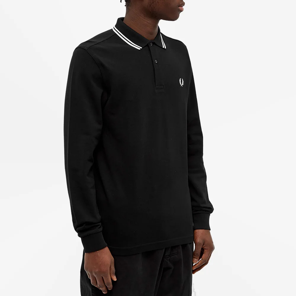 Fred Perry Authentic Long Sleeved Twin Tipped Polo