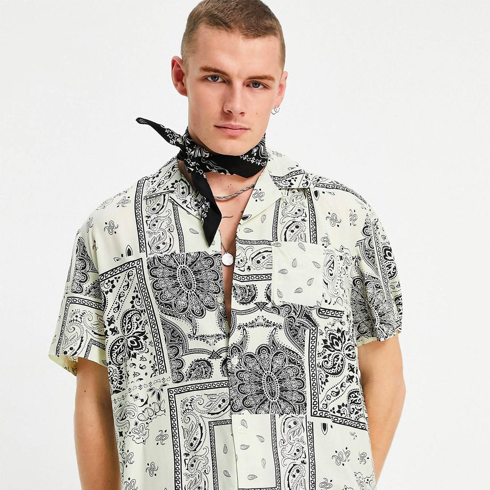 Reclaimed Vintage bandana print shirt ramadan shopping guide