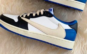 Leaked Images Of The Travis x Fragment x Air Jordan 1 Low